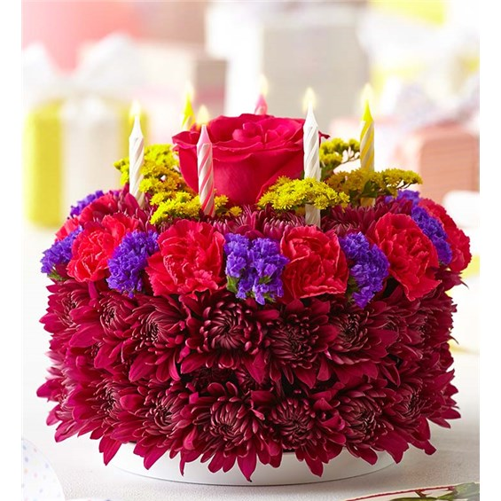 Fine 1 800 Flowers Birthday Flower Cake Purple Costa Mesa Ca Funny Birthday Cards Online Chimdamsfinfo